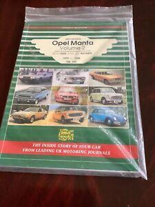 Transport Source Books:Opel Manta 1970-88 Road Tests and Articles - Trevor Alder
