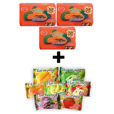 PAPAYA SOAP & HONEY LIGHTENING SOAP  3 x 125g *ASANTEE + FREE! 1 BAR OF HARMONY