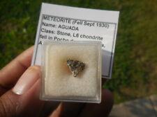 RARE FALL  0.355 gram AGUADA METEORITE (fell Sept 30 1930 in Argentina) Stone L6