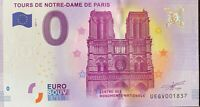 BILLET 0  EURO  TOURS NOTRE DAME DE PARIS   FRANCE  2017  NUMERO DIVERS