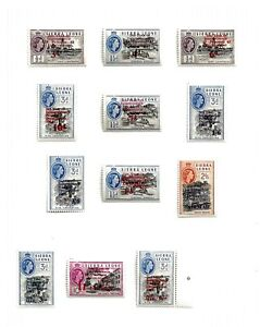 SIERRA LEONE (A7-33) 1963 SG273-84 COMMEMORATIONS   SET OF 12 VERY FINE MM / MH