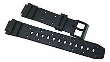 14mm Black Resin/PVC Watch Band Fits Models W-95 TGW-10 TRW-10 W-60U-AE-30W
