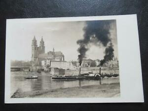 AK Magdeburg Dom mit Dampfer