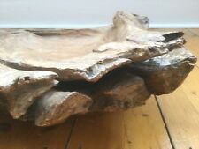 Large Vintage Decorative Hand Carved Driftwood Bowl Sculpture Art Prop Display