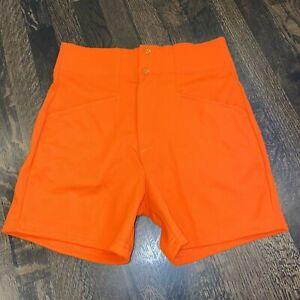 NOS Vtg 70s 80s Coach Shorts GYM High Waisted Orange Bike Softball Mens SMALL