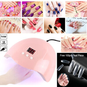 54W SUN Nail Lamp USB UV LED Light Nail Art Dryer Gel Polish Curing Nail Piece