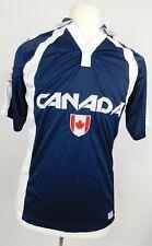 NWT CANADA ATHLETICS Medium Men's Olympic Jersey Short Sleeve Shirt Banff Blue