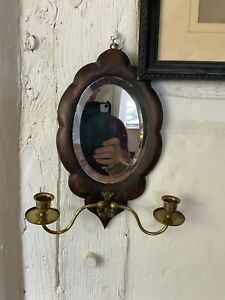 A Fabulous Little Victorian Wall Mirror With Two Candle Sconces