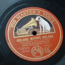 78rpm JOHN McCORMACK ireland mother ireland / the rose of tralee