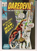 Daredevil 78 FN/VF  White Pages - First Appearance of Man Bull