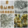 Mixed Dread Lock Dreadlocks Gold and Silver Plated Beads Metal Cuffs Hair Dec...