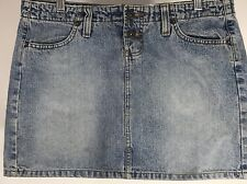 LEI Denim Jean Junior Skirt S 11 Stone Washed Mini Skirt Front And Back Pockets