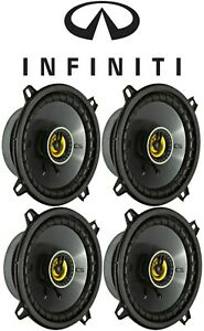"""Kicker 6.5"""" Front+Rear Car Speaker Replacement For 1997-2003 INFINITI QX4"""