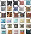 Vintage Paisley Pattern Pillow Case Cotton Linen Sofa Cushion Cover Home Decor