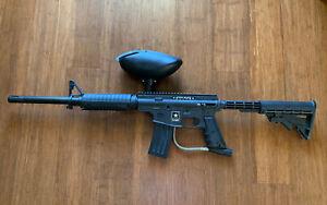 Tippmann US Army Alpha Elite Tactical Paintball Gun & Hopper -Black- Ships Fast
