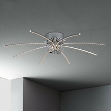 WOFI lámpara LED de techo CRUX 8-flg CROMADO Ø90 cm 26 Vatios 1900 LUMEN LÁMPARA