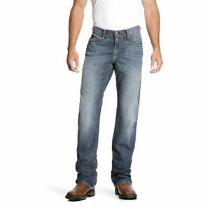Ariat 10023467 Men's FR M4 Low Rise Stretch DuraLight Boundary Boot Cut Jeans