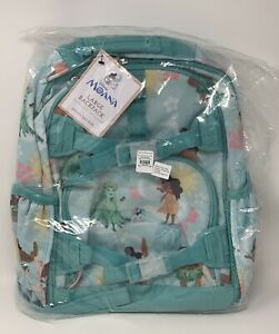 "Pottery Barn Kids Moana Large Backpack School Book Bag Disney Princess 17"" Blue"