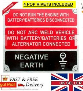 Land Rover 2 2a 3 Front Panel Negative Earth Information VIN Plate 4 FREE RIVETS