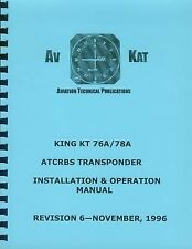 KING KT 76A / KT 78A TRANSPONDER INSTALLATION MANUAL
