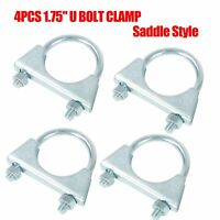 "4PCS 1 3/4"" 1.75"" U-Bolt Uclamp Muffler Saddle Exhaust Clamps Mild Steel"