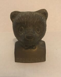 Ted D Bear Hollow Bronze Statue Book End Collectible RARE