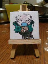 Bernie Sanders Mittens Meme Mini Painting