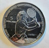 NIUE 1987 - 5 DOLLARS - STEFFI GRAF Olympic Games Seoul- stgl/unc (1860