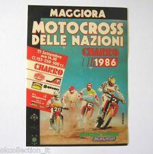 VECCHIO ADESIVO MOTO / Old Sticker MOTOCROSS NAZIONI MAGGIORA 1986 (cm 9 x 12).
