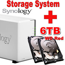 6TB (2x3TB) WD Red Synology Disk Station DS216j Netzwerkspeicher Gigabit NAS