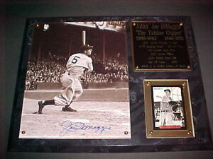 JOE DIMAGGIO AUTOGRAPHED LIMITED EDITION PLAQUE OF /369  AOL-10 COMES WITH COA
