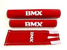 BMX Polster Set Pad Set NEU Old School Retro Rot 3-teilig