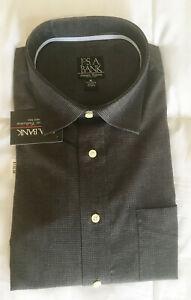 JOS A BANK SIGNATURE COLLECTION WRINKLE FREE DRESS SHIRT DARK GRAY XL
