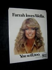 Original 1977 FARRAH FAWCETT WELLA Standee Near Mint LOGAN'S RUN MAKE OFFER!!