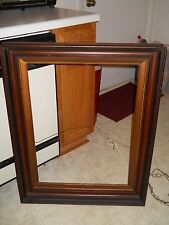 Huge 34x27 inch Victorian Walnut deep frame Mirror c1870