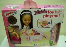 #1919 NRFB Zip Bin Mansion Toy Tote Playmate with Kelly Sized Doll