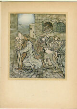 Rackham Tipped-in Color Plate. Wonder Book. 1st US ed. Perseus.