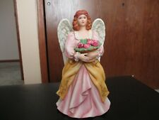 Homco Angel Holding Bouquet of Roses, 8806