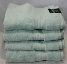 Ralph Lauren Greenwich Four (4) Bath Towel Set Solid Blue New