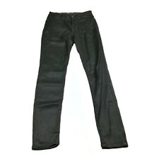 Jag Womens Jeans Size 10 Black Shiny High Rise Skinny Ankle Grazer The Rosie