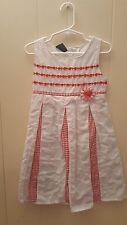 Girls Size 5T Dress EUC Pretty White & Red Dress