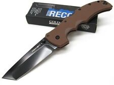 COLD STEEL Dark Earth RECON 1 Straight TANTO Folding Pocket Knife New! 27TLTVF