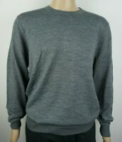 Men`s CHRISTIAN BERG Jumper Crew Neck Wool Blend Size L Grey Pullover Sweater
