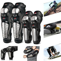 Motorcycle Stainless Steel Safety Elbow Knee Pads Armours Shin Guards Protective