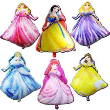 6pcs 70cm Disney Princess Foil Balloons Decoration Girl Party Favor Supplies