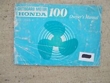 1977 Honda 100 HP Outboard Motor Owner Manual LOTS MORE BOAT ITEMS IN STORE  S