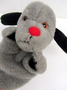 THE SOOTY SHOW Sweep the Dog PLUSH PUPPET TOY with Squeaker - 24cm Tall