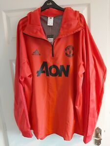 Adidas Men's Manchester United Hooded Warm Up Top, 3XL