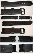 KHS Sentinel Black Eagle Silikon Armband Ersatzband Rubber PVD Dornschließe 24mm
