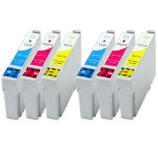 6 XL Tintenpatronen Farbe für Epson SX115 SX200 SX205 ersetzen T0712-T0714